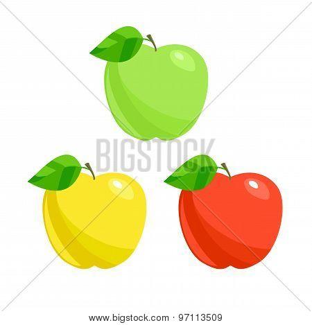 Apples. Vector