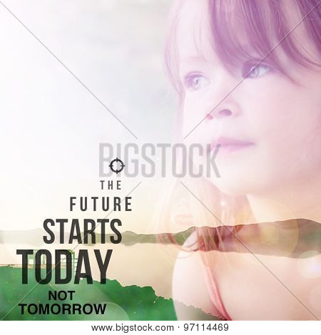Inspirational Typographic Quote - The future starts today not tomorrow