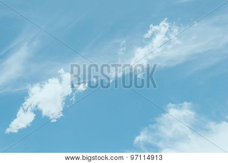 Blue Sky And White Clouds, For Background