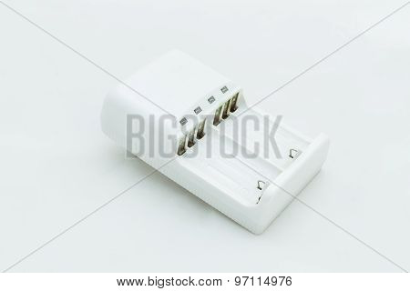 Battery Charger / Battery Charger Isolated On White