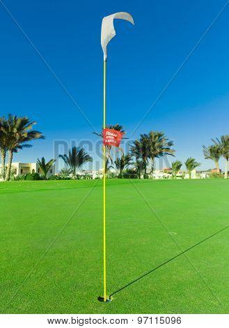 Golf Flag Waving