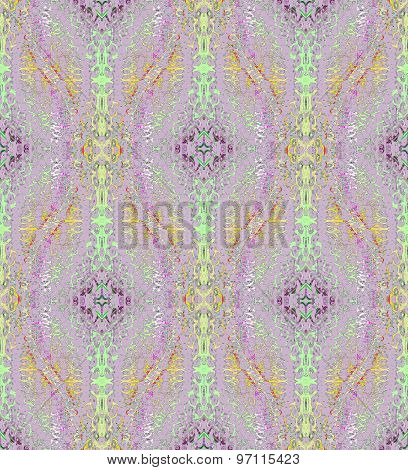Seamless pattern lilac green