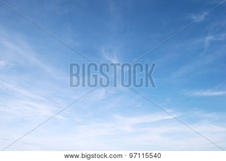 white fluffy clouds in the blue sky, for background