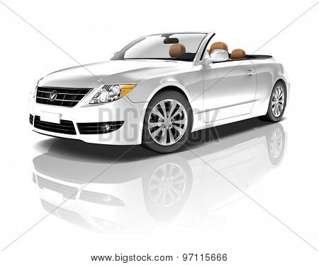 Car Vehicle Transportation 3D Illustration Concept