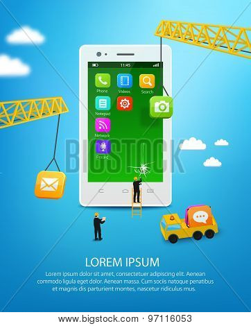 Construction Mobile Phone, Smartphone User Interface Engineering And Mobile Application Development