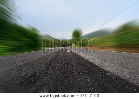 Line  streets road for car and motion speed background
