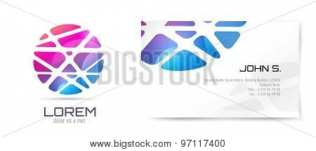 Vector brochure template. Abstract arrow design and creative identity idea, blank, paper. Stock illustration. Isolated on white background.