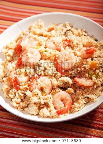 Couscous With Shrimps And Dried Apricots