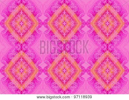 Seamless patter pink orange