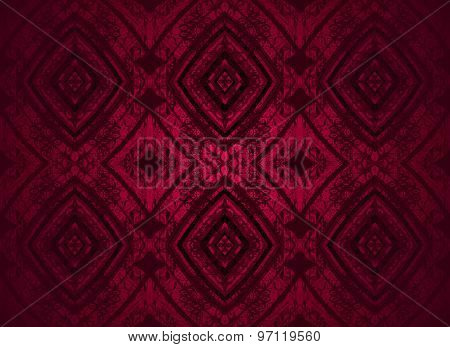 Seamless pattern red black
