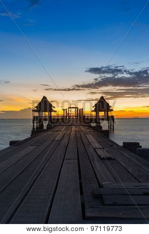 Sunset of Wooden Bridge