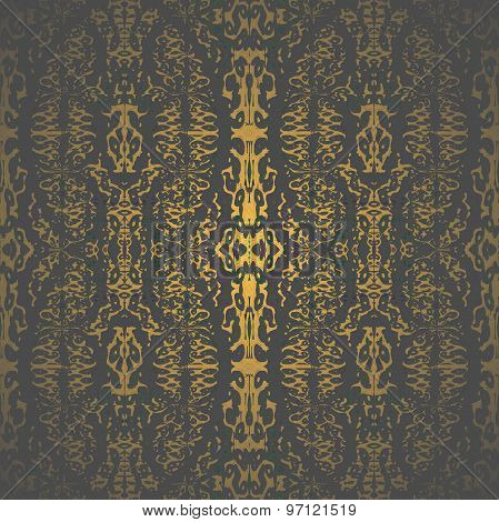 Seamless pattern golden brown black