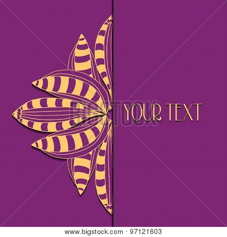 Abstract Vector Circle Floral Ornament.