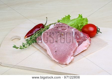 Raw Pork Steak