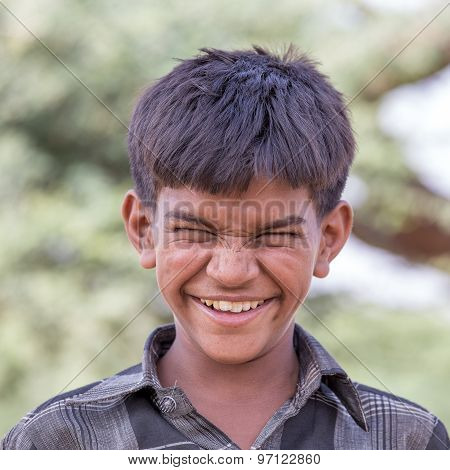 Indian Boy Attended The Annual Pushkar Camel Mela
