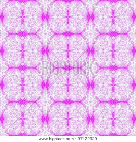 Seamless floral pattern violet white