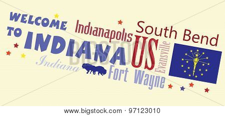 Welcome To Indiana Abstract Banner