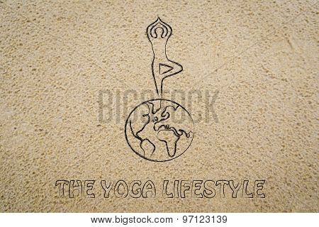 The Yoga Lifestyle: Person In Tree Pose Above The World