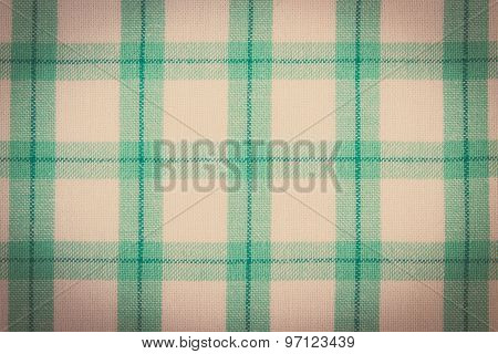 Vintage Photo, Colorful Tablecloth As Background