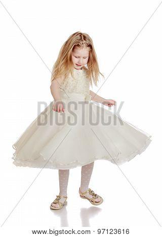 Fashionable little girl
