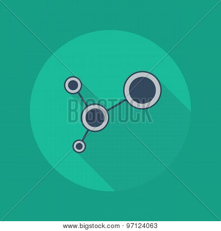 Technology Flat Icon. Social Network
