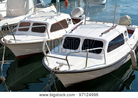 Boats on the Adriatic coast