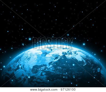 Earth on a background of the sky. Best Internet Concept of global business from concepts series. (Elements of this image furnished by NASA)