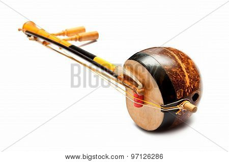 Thai Fiddle Bass Sounded String Music Instrument