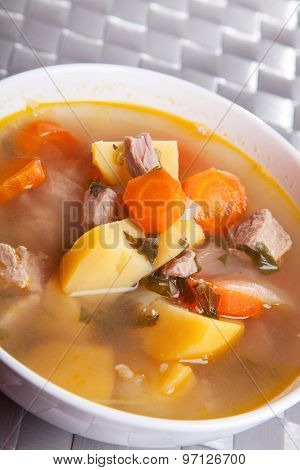 Veal Soup With Vegetables
