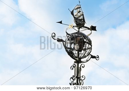 Street Lamp In The Form Of A Globe
