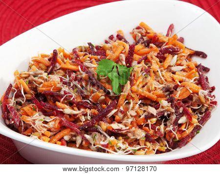 Carrot, Beetroot, Tuna Fish Salad