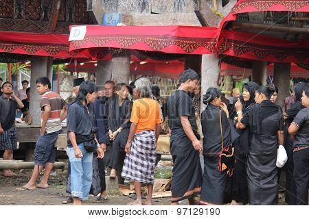 Group Of Torajan People