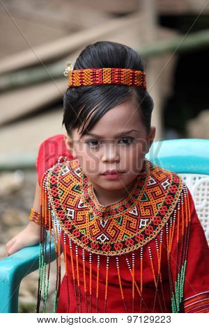 Portrait Of A Young Toraja Girl