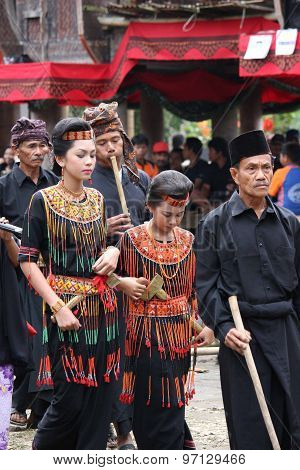People Procession During A Funeral Ceremony