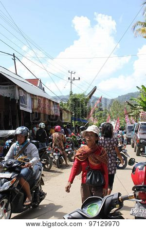Little Rural Village In Tana Toraja, Indonesia