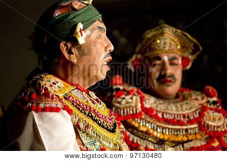Portrait Of Traditional Dressed Balinese Men