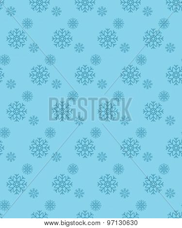Perfect Snowflake Graphical Seamless Pattern. Geometrical Texture Made In Vector. Unique Background