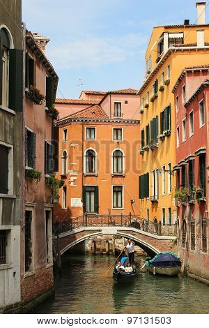 Colorful Houses In Venice Italy