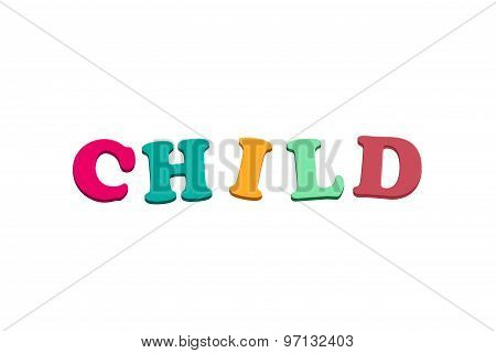 Colorful Child Letters