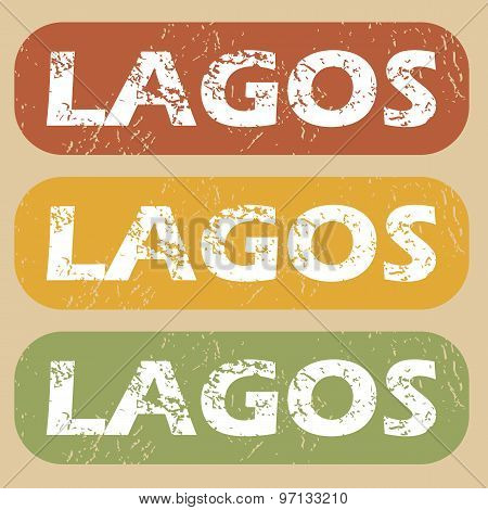 Vintage Lagos stamp set