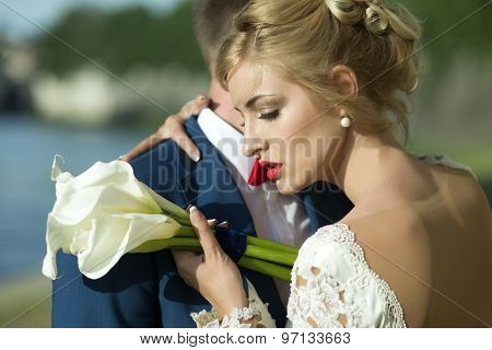 Lovely Wedding Couple Outdoor