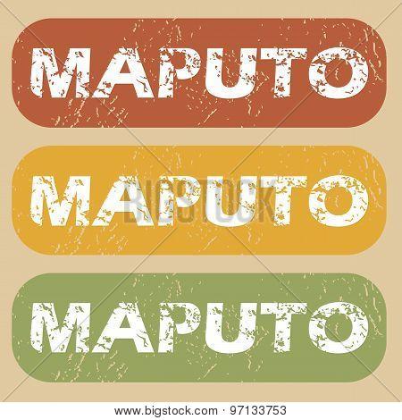 Vintage Maputo stamp set