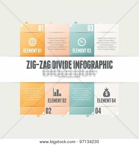 Zig Zag Divide Infographic