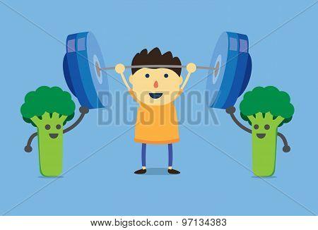 Kid power from broccoli