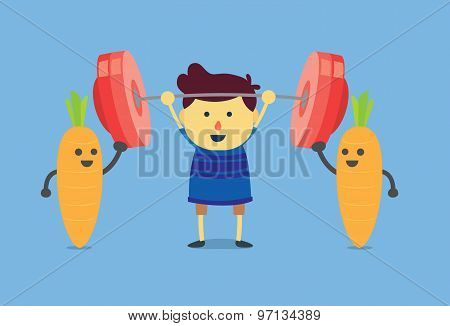Kid power from carrot