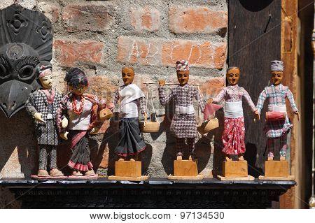 Nepalese Wooden Dolls
