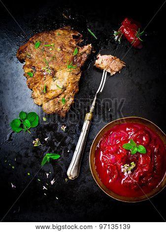 Grilled Pork Meat.