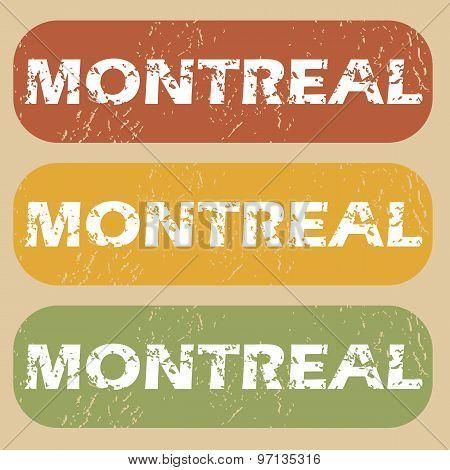 Vintage Montreal stamp set