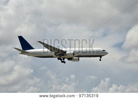 Cargo Jet Airplane Side View