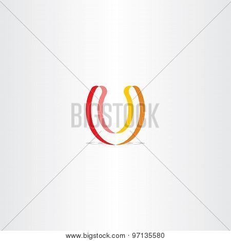 Lucky Horseshoe Colorful Vector Logo